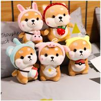 Cute Kawaii Shiba Inu Corgi Dog Plush Toy (Pikachu, Elephant, Bunny, Strawberry)