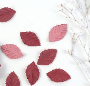 50Pcs/lot 3.5cmNew Autumn Color Leaves Artificial Flower DIY Handmade Wreath