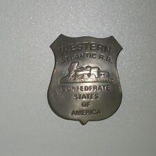 Western Atlantic R.R.,Confederate States of America,Police Badge (Fantasy Piece)
