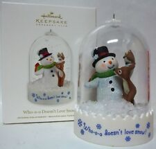 Hallmark 2012 Club Exclusive Who-o-o Doesn't Love Snow Ornament  Snowman