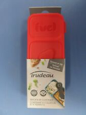 Trudeau Corporation Snack and Dip Container.  Red lid  NEW