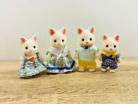 Sylvanian Families Silk Cat Family Fred Holly Lulu Tiffany Golightly Set 2009