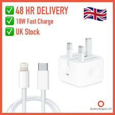 UK Apple 18W USB-C Plug Fast Charger Lightning Cable For iPhone 11 Pro XS X SE 8