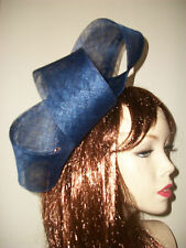 Fascinator NEW Navy Blue Hatinator Hat Wedding Races Formal Ladies Big Loop