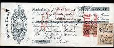 """MONTAUBAN (82) VINS """"R. MURAT / Les Fils HUC Succ"""" en 1921"""