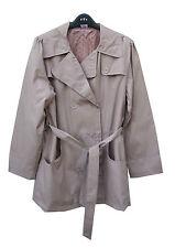 Italian Style Fully Lined Belted Beige Mac Water Resistant Coat Jacket 14-16