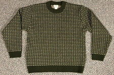 Vintage LL BEAN BIRDSEYE GREEN Norway Norwegian Fisherman Wool Sweater Medium
