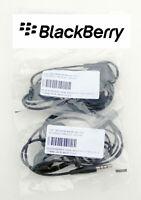 Genuine BLACKBERRY HDW-44306-003 Black In-Ear Stereo 3.5mm. Pack of 25 - resale.