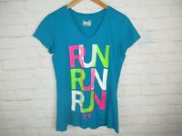 Under Armour women's size Small Semi-Fitted Heat Gear Short Sleeve Running Tee