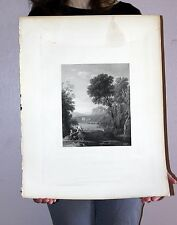"Large Original Claude Lorranine Steel Engraved Print ""THE ANNUNCIATION"" 1832"
