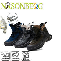 Men's Winter Steel Toe Safety Shoes Work Boots Casual Hiking Climbing Sneakers