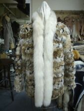 NEW MONTANA LYNX & FOX FUR COAT JACKET WOMEN CUSTOMIZE