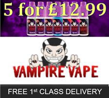 Vampire Vape E-Liquid *5x10ml bottles for £12.99* - All Flavours & Strengths