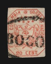 Vintage: Colombia 1863 Usd Bh Scott # 26 $ 75 Lot # Col1863A