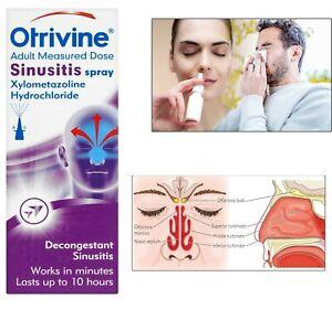 Otrivine Sinusitis Nasal Spray Relief Sinusitis 10 ml