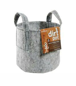 Case Lot of 25 Grow Hydrofarm Dirt Pots W/ Handles 5 Gallon portable GHDB