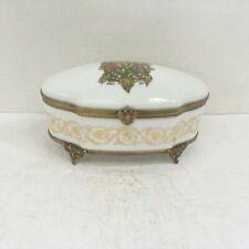 Rare Faberge Limoges France Lilies Of The Valley Egg Porcelain Dresser Box