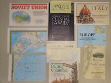 Lot Vintage National Geographic Maps & Supplements 1970's - 1990's Antique (7b)