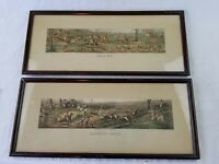 Framed Henry Alken T. Sutherland FULL CRY & BREAKING COVER 1824 Antique Etching