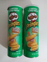 NEW PRINGLES Sweet Corn LIMITED TIME Flavored Potatoe Chips 5.5 OZ Fresh 2pk