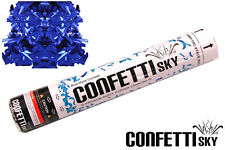 12 pack CONFETTI SKY blue Mylar GENDER REVEAL cannon baby shower party popper
