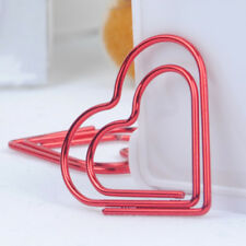 30*30mm Heart Shape Paper Clips Bookmark Metal Paperclips Office Stationery