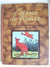 couverture Hergé Tintin oiseau de France en Océanie rare album 1935 TBE