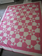 Quilt Large Pink Beach Ball hand made vintage museum quality 1930s