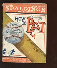 Vintage Spalding How To Bat Guide