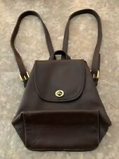 Vintage Coach Brown Small DayPack Leather Small Backpack, # 9960