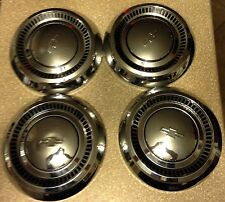 "SET OF 4 CHEVY HUB CAPS antique vintage Chevrolet 10.75"" hubcaps"
