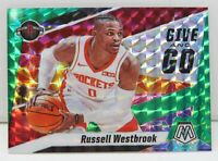 Russell Westbrook 2019-20 GREEN MOSAIC PRIZM Give and Go Insert Card #11 Rockets