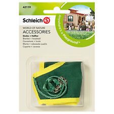 Schleich - Horse Blanket + Headstall Green NEW Farm Life Toy Accessories # 42119