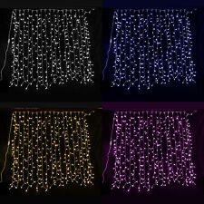 LED CURTAIN LIGHTS XMAS CHRISTMAS LIGHTS WEDDING BACKDROP WHITE BLUE PINK GARDEN