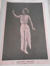 1907 Original Print  Arlette Dorgere dans les danses Grecques