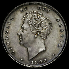More details for 1826 george iv milled silver shilling, unc