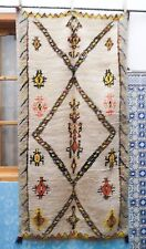 Moroccan Beni Ourain Berber Rug Carpet - Earth Tones - Tribal Design - 8' x 3.10