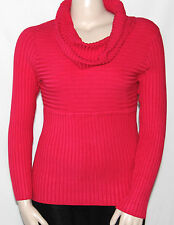 NWT INC International Concepts Ribbed Knit Cowl Neck Sweater (A) VIRTUAL PINK/1X