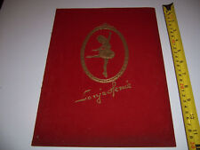 1943-44 PROGRAM / PLAYBILL- HOLLYWOOD ICE REVIEW - SONJA HENIE - VELVET COVER #2