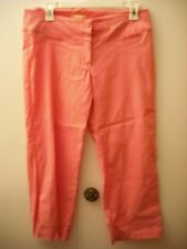 Women's Forever 21 PINK STRETCH Capri Pants Size LARGE 21 1/2 inseam Fast Ship