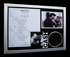 JOHNNY CASH Ring Of Fire LTD GALLERY QUALITY CD FRAMED DISPLAY+FAST GLOBAL SHIP