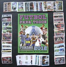 100% COMPLETED ARGENTINA FUTBOL 2012 STICKER SET + NEW EMPTY ALBUM