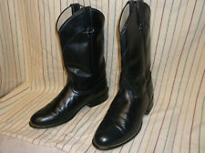LAREDO Cowboy Western Roper Boots Black Leather  Womens Size 7 M