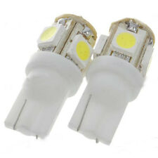 Xenon White T10 2 pcs LED 6000K Light Bulbs 168 194 2825 921 Interior 5-SMD