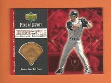 2002 UD PIECE OF HISTORY HITTING FOR CYCLE LUIS GONZALEZ GAME-USED BAT #HC-LG