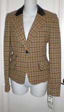 NWT ~Rare ~DKNY Donna Karan NY  Stylish Plaid Jacket Blazer~4~73%wool~Ret $395