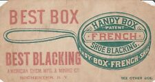 Rochester NY Handy Box French Shoe Blacking~American Chem & Mining~Puzzle 1920s