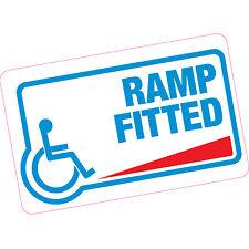 Ramp Fitted Vinyl Sticker Blue Badge Disability Motobility Home Shops Car Van