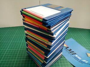 "50 x 3.5"" AMIGA  'FLOPPY DISKS' - USED BOX of 50 random disks.. DSDD"