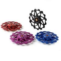 15T Qikour MTB Bicycle Bike Rear Derailleur Aluminum Ceramic Bearing guide wheel